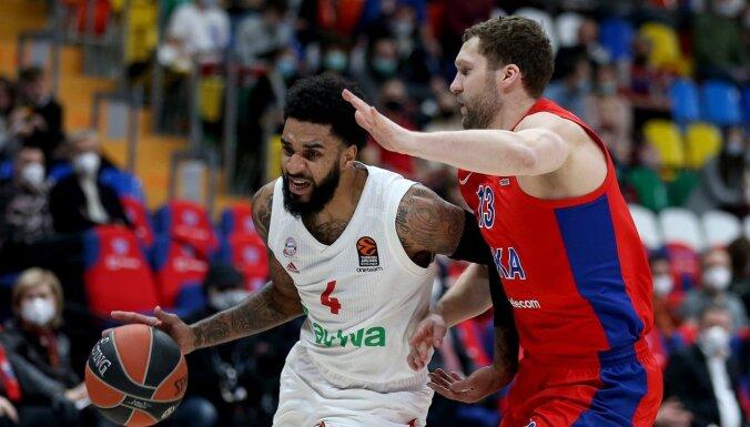 Strēlnieks un CSKA Eirolīgas mačā zaudē 'Bayern' komandai