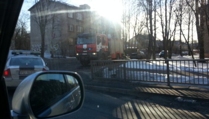 В Пардаугаве утром горел Alfa Romeo