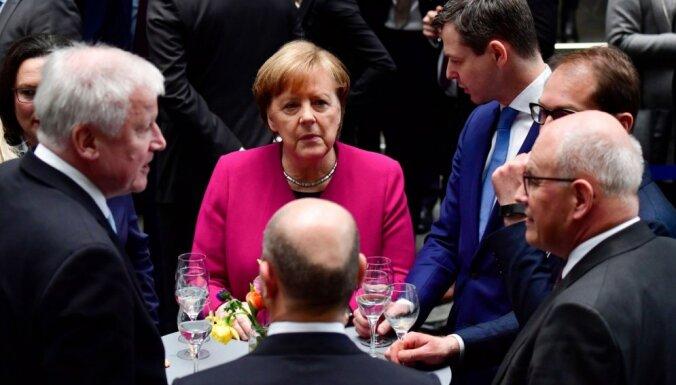 Vācijas partijas paraksta koalīcijas vienošanos par jaunās valdības izveidi