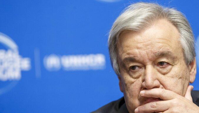 Pandēmijas izmantošana cilvēktiesību vājināšanai ir nepieņemama, paziņo Gutērrešs
