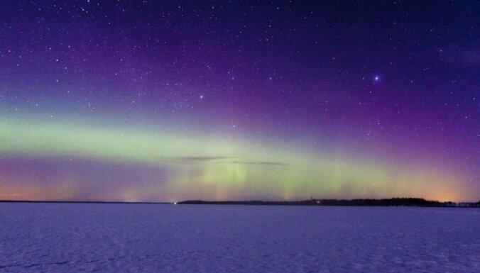 Над Латвией наблюдалось северное сияние