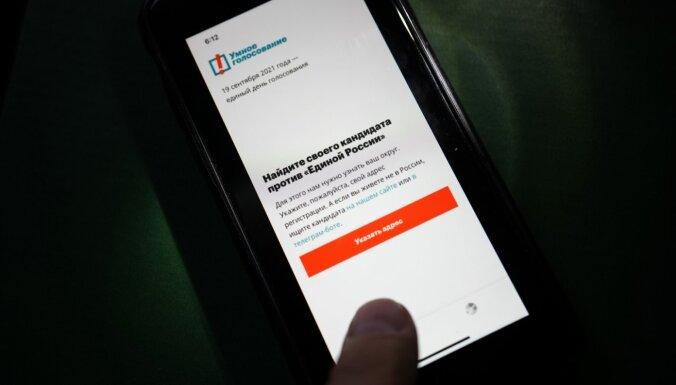 'Telegram' nobloķēta Navaļnija 'Gudrās balsošanas' aplikācijas robotprogramma