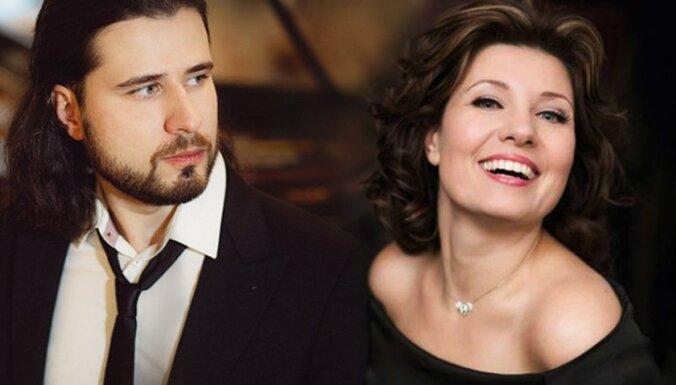 Latviešu mūziķi Marina Rebeka un Andrejs Osokins uzstājas radio BBC