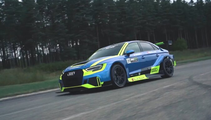 """ВИДЕО. """"Горячий"""" седан от Audi Sport: гоночная модель RS3 LMS"""