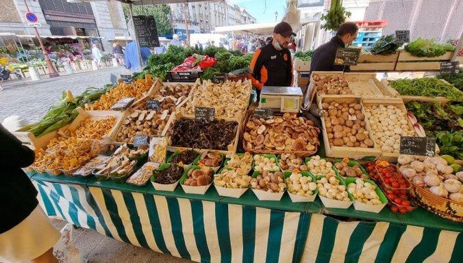 Foto: Kādas sēnes tirgo Francijā