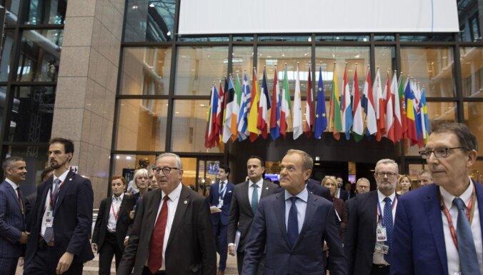 ES līderi apstiprina panākto 'Brexit' vienošanos
