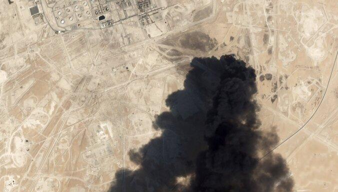 Saūda Arābijā pēc uzbrukumiem naftas rūpniecības objektiem naftas ieguve sarukusi uz pusi