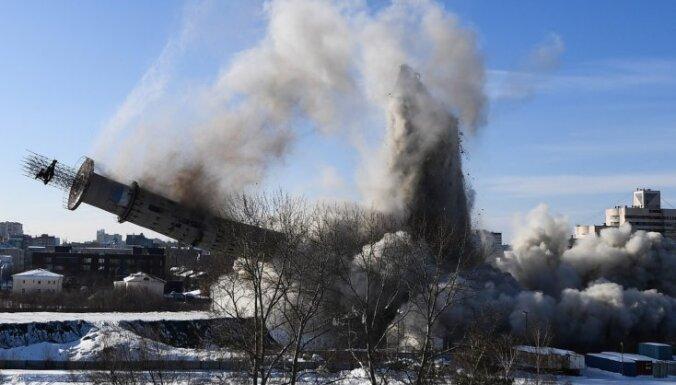 ВИДЕО: В Екатеринбурге взорвали недостроенного близнеца Вильнюсской телебашни
