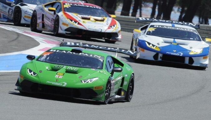 Šlēgelmils trešais pēc otrā brauciena 'Lamborghini' kausa noslēdzošajā posmā