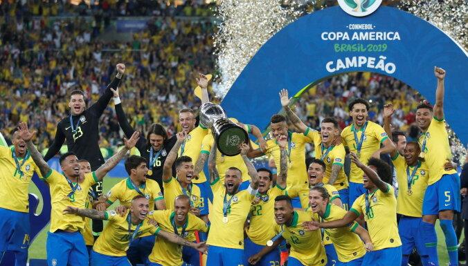 Covid-19 krīzes nomocītā Brazīlija plāno organizēt 'Copa America'