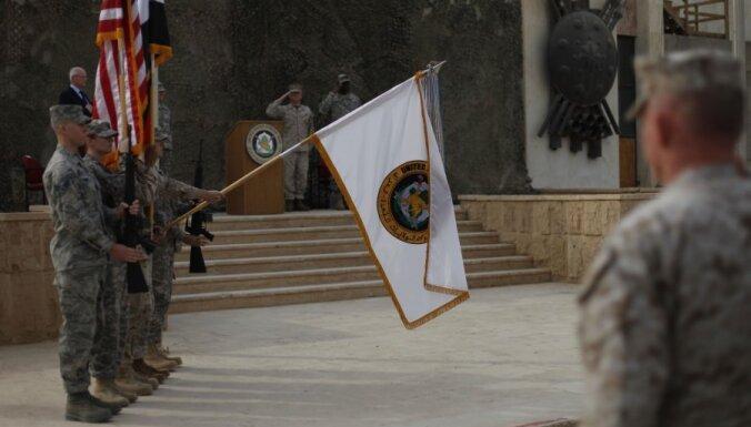 В Багдаде спущен флаг США: война в Ираке окончена