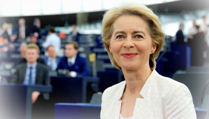 Īsumā: Kāpēc vairums Latvijas pārstāvju EP atbalsta Urzulu fon der Leienu