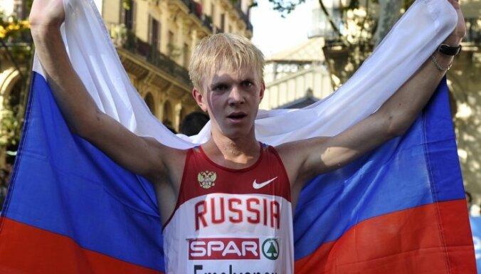 Krievu soļotājam atņemta Eiropas čempionāta zelta godalga