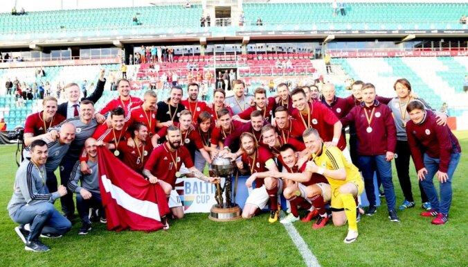 ФОТО, ВИДЕО: Как сборная Латвии в 12-й раз выиграла Кубок Балтии