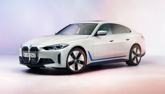 BMW parādījis šogad gaidāmo 'i4' elektromobili