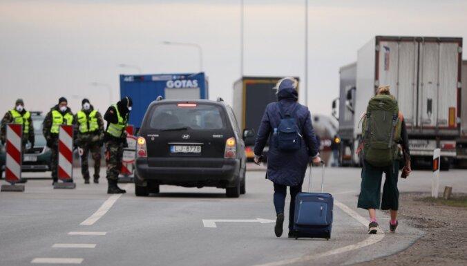 Lietuvas valdība līdz ceturtdienai pagarinājusi tranzīta periodu ārzemniekiem
