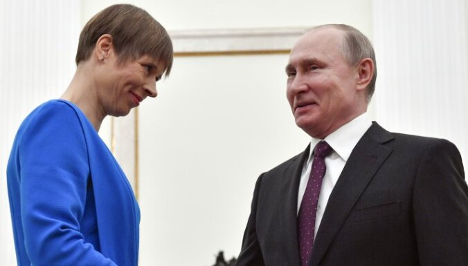 Кальюлайд после встречи с Путиным: вопрос о президентских регалиях не поднимался