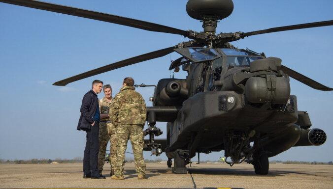 Великобритания перебросила в Эстонию многоцелевые вертолеты Wildcat