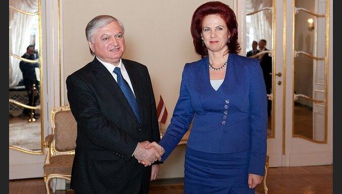 Āboltiņa: Armēnija ir svarīgs sadarbības partneris Dienvidkaukāza reģionā