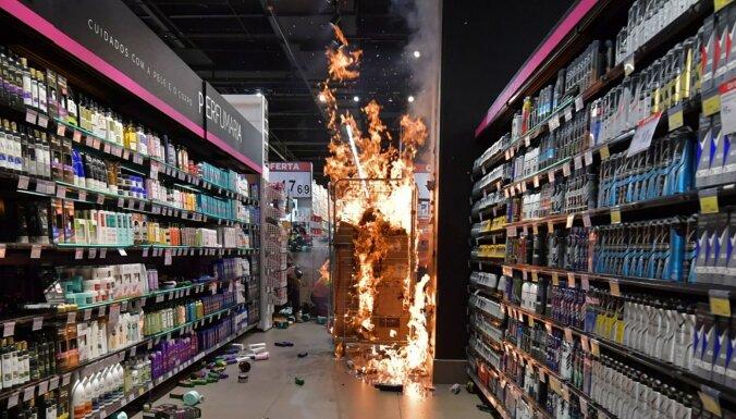 ФОТО: борцы за равноправие разгромили супермаркет в Бразилии
