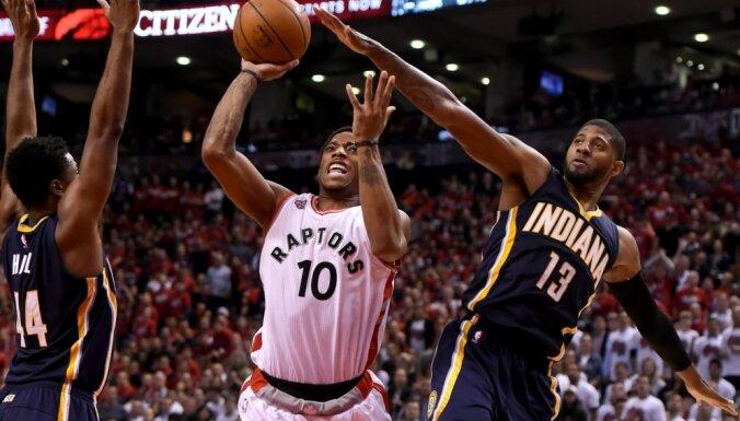 'Raptors' un 'Heat' iekļūst NBA izslēgšanas spēļu otrajā kārtā