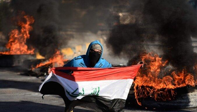 Merkele, Makrons, Džonsons: vardarbības cikls Irākā ir jāaptur