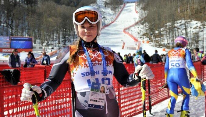 Юная латвийская горнолыжница сделала то, что не удалось чемпионке Сочи