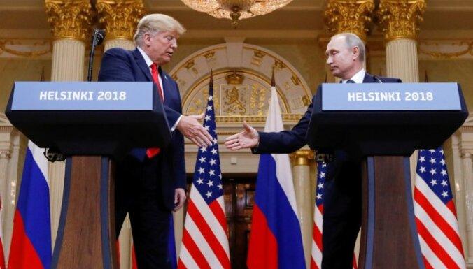 ASV un Krievijas attiecību uzlabošanos Peskovs 'pie horizonta' neredzot