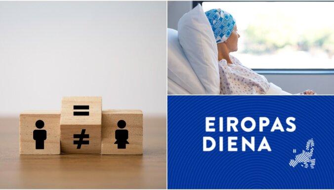 Eiropas diena: Cīņa par dzimumu vienlīdzību un finanšu politika vēzi pārslimojušajiem
