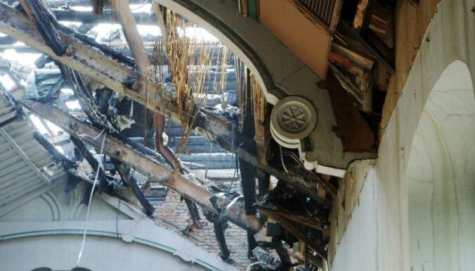 Пожар в Рижском замке: эксперт считает, что возгорание произошло в тире