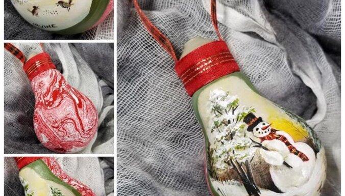 ФОТО. Новая жизнь перегоревших лампочек: канадский художник превратил их в новогодние игрушки