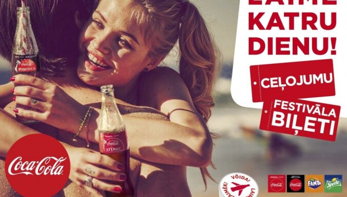 'Coca-Cola' uzsāk vasaras kampaņu 'Laimē katru dienu!'