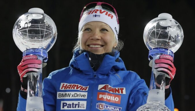 Последнюю гонку сезона выиграла Домрачева, а Кубок мира взяла Мякяряйнен