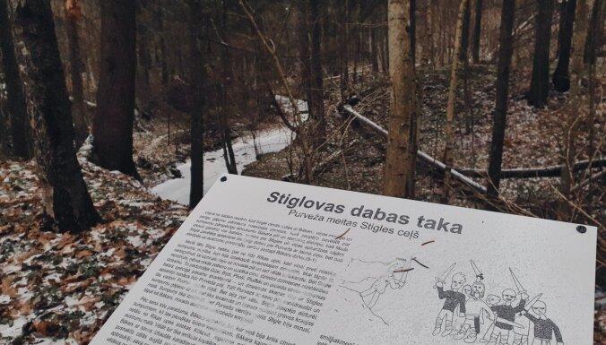Foto: 2,4 kilometrus garā Stiglovas dabas taka, kas nesen atjaunota