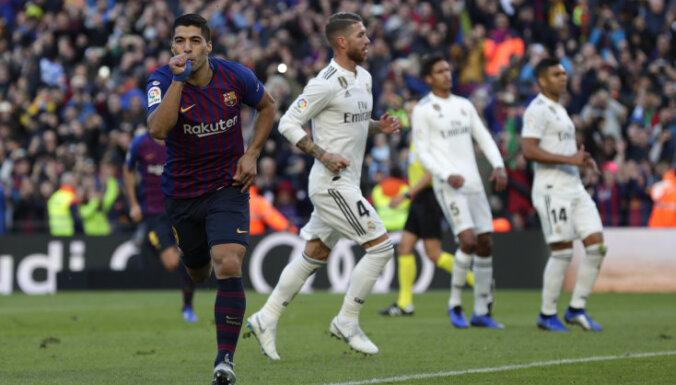 "ВИДЕО: Хет-трик Суареса помог ""Барселоне"" разгромить ""Реал"" в ""эль класико"""
