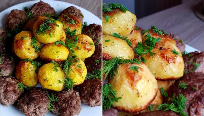 Kā cepeškrāsnī izcept kartupeļus ar zeltaini brūnu garoziņu