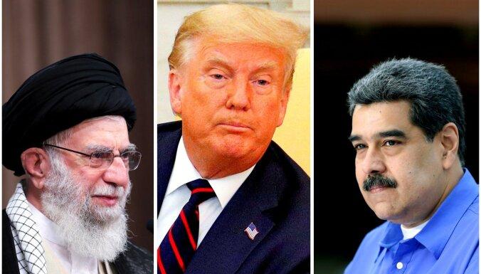 ASV vērš jaunas sankcijas pret Irānu un Venecuēlu
