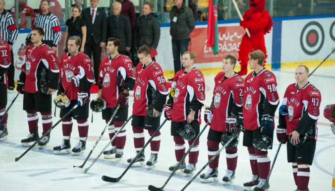 Latvijas hokeja izlase aprīlī aizvadīs divas pārbaudes spēles Daugavpilī