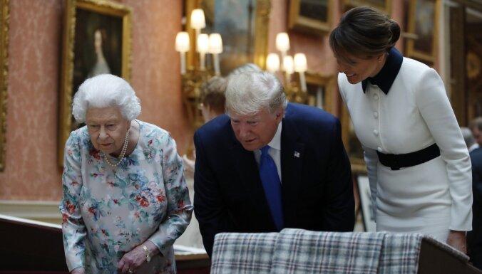 Tramps ieradies valsts vizītē Lielbritānijā