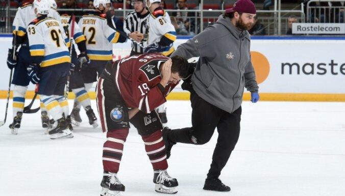 Spēlē pret HK 'Soči' savainojumus guvuši trīs Rīgas 'Dinamo' hokejisti