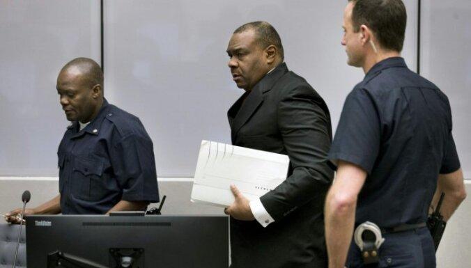 Kongo DR bijušo viceprezidentu atzīst par vainīgu kara noziegumos