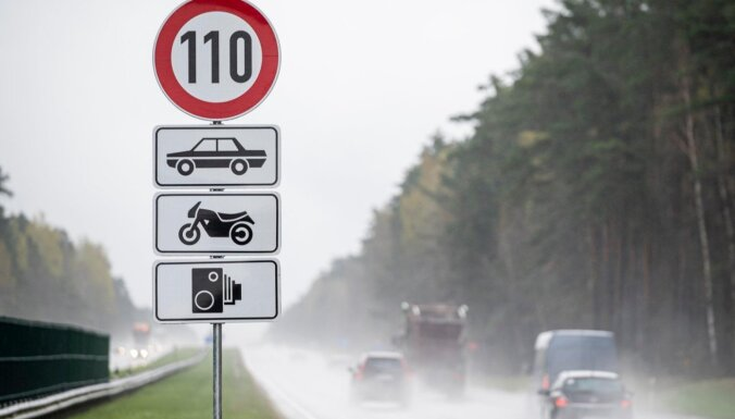 Uz Jūrmalas un Vidzemes šosejas atļautais braukšanas ātrums būs 110 km/h