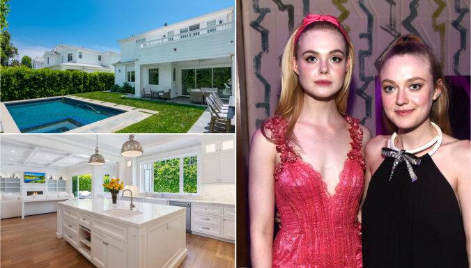 Foto: Māsas Dakota un Elle Faningas tirgo savu 'pieticīgo' namiņu