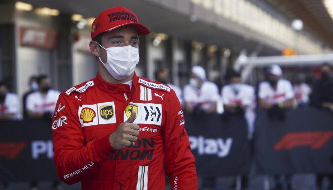 Leklērs izcīna 'pole position' Azerbaidžānas 'Grand Prix'