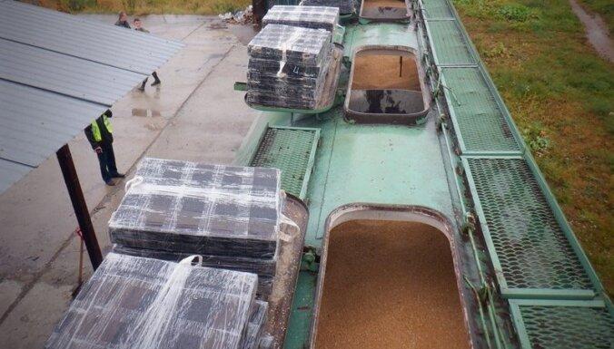 На российско-латвийской границе нашли вагон с сигаретами
