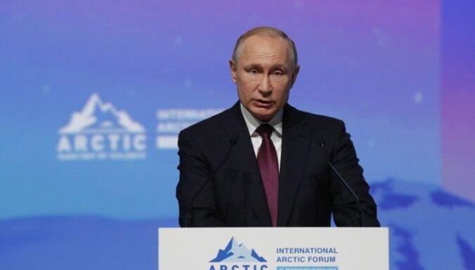 Putins nāk klajā ar ambiciozu programmu Krievijas ietekmes nostiprināšanai Arktikā