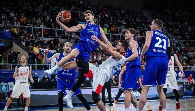 Igaunijas basketbolisti zaudē Krievijai un par finālturnīru cīnīsies pēdējā spēlē