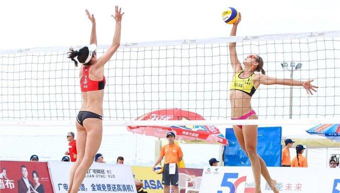 Pārcelts arī marta beigās paredzētais pludmales volejbola turnīrs Kankunā