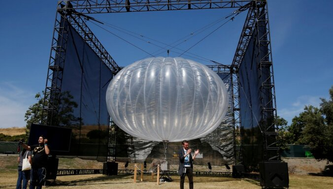 'Alphabet' atmet ieceri nodrošināt internetu ar baloniem