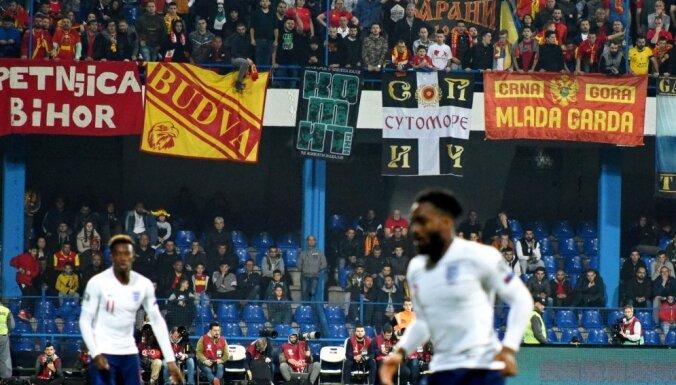 Melnkalnes futbolisti līdzjutēju rasistisko izpausmju dēļ nākamo mājas spēli aizvadīs aiz slēgtām durvīm